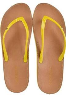 Rasteira Azaleia Feminina - Feminino-Amarelo