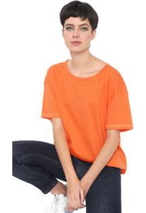 Camiseta Colcci Neon Laranja