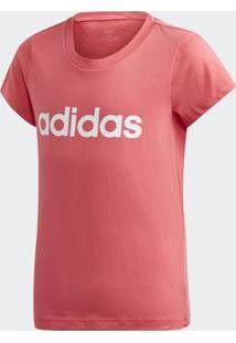 Camiseta Infantil Adidas Yg E Lin Feminina - Feminino-Rosa