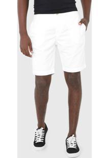 Bermuda Sarja Calvin Klein Jeans Chino Bolsos Branca - Branco - Masculino - Algodã£O - Dafiti