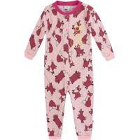 ffe530aa2 Pijama Macacão Bebê Menina Com Abertura Frontal Por Botões De Pressão Puc  Especial Dogs