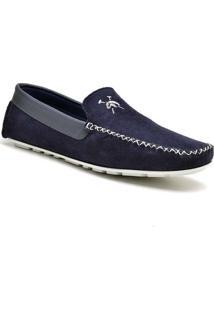 Sapato Masculino Driver Polo State Trip Azul Blue