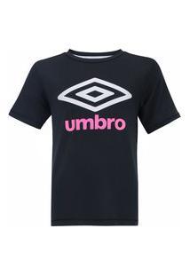 Camisa Umbro Juvenil Basic Uv Infantil Preta