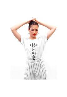 Camiseta Feminina Mirat Liberdade Branca
