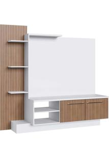 Estante Com Painel Tv 52 Pol. 2 Portas Branco/Milano Decibal Moveis