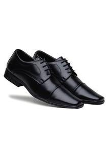 Sapato Social Masculino Bertelli Comfort Macio - Preto