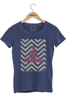 Camiseta Forseti Estonada Meditação Azul - Kanui