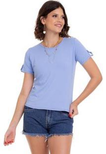 T-Shirt Manola Feminina - Feminino-Azul