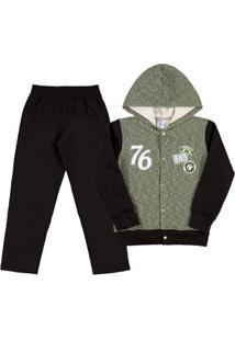 Conjunto Infantil Menino - Masculino-Verde