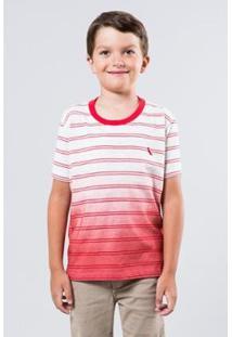 Camiseta Infantil Listra Degrade Reserva Mini Masculina - Masculino-Vermelho Escuro