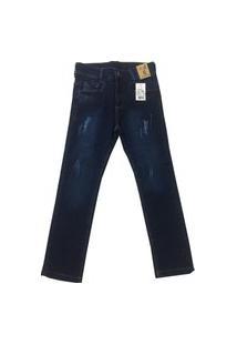 Calça Jeans Infantil Oliver Slim Confort Masculina Azul