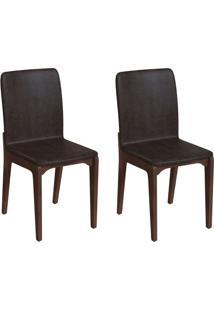 Conjunto Com 2 Cadeiras Darwin Tabaco E Café