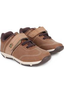 Sapato Infantil Klin Outdoor Masculino - Masculino-Caramelo