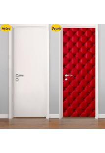 Adesivo De Porta Capitonê Vermelho (0,80M X 2,10M)