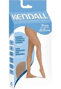 Meia-Calça Kendall Suave Compressão Feminina - Feminino-Marrom+Branco