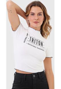 Camiseta Triton Canelada Off-White