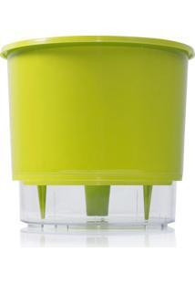 Vaso Autoirrigã¡Vel Grande- Incolor & Verde Limã£O- 14Raiz Vasos Autoirrigã¡Veis
