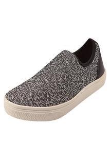 Tênis Meia Rosa Chic Calçados Calce Fácil Slipper Shoes Cinza