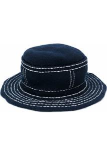 Barrie Chapéu Bucket Com Costura Contrastante - Azul