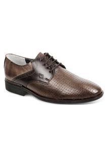 Sapato Social Para Pés Largos Masculino Derby Sandro Moscoloni Charlie Marrom (Fabriano)