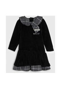 Vestido Infantil Plush Preto