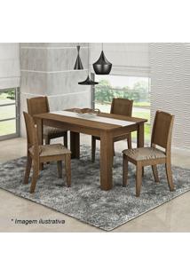 Conjunto De Mesa & Cadeiras Bárbara Para 4 Lugares- Savacimol