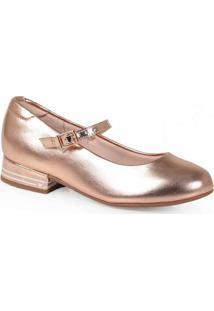Sapato Boneca Infantil Molekinha Metalizado Básico