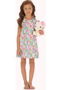 Camisola Estampada Rosa Infantil Hello Kitty