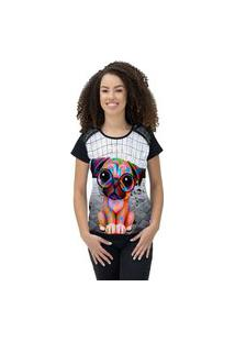 Camiseta Ramavi Feminina Delicate Dog Preto Preto Gg