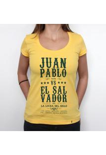La Lucha Del Siglo - Camiseta Clássica Feminina