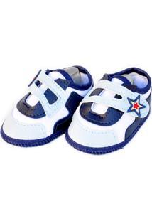 Sapato Moderno Sapatinhos Baby Azul E Branca