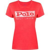 Farfetch. Polo Ralph Lauren Camiseta Com Estampa De Logo - Vermelho b22a8d72baf7c