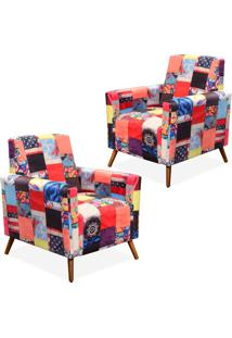 Kit 02 Poltronas Decorativas Lyam Decor Liz Patchwork