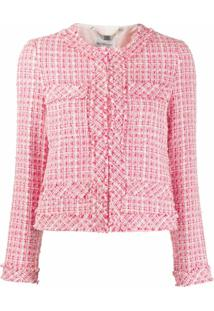 Be Blumarine Jaqueta Cropped De Tweed - Rosa