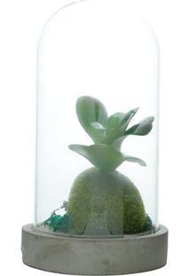 Vaso Simple Plant- Cinza & Verde- 16,5Xã˜9Cm- Urburban