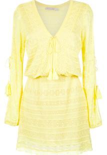 Cecilia Prado Vestido De Tricô Rosália - Amarelo E Laranja