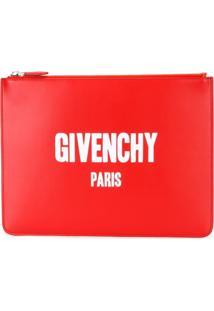 Givenchy Bolsa Carteira De Couro - Vermelho