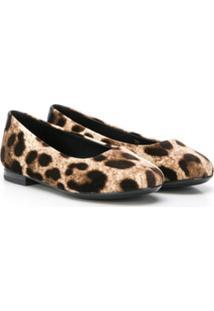 Dolce & Gabbana Kids Leopard-Print Ballerina Flats - Neutro