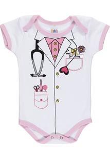 Body Infantil Para Bebê Menina - Lilás