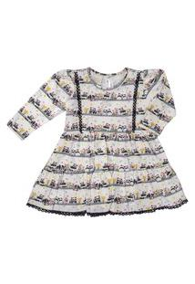 Vestido Para Bebê Manga Longa Cotton Pandinhas- Anjos Baby Preto