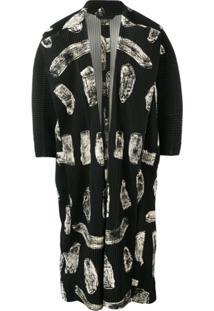Homme Plissé Issey Miyake Pleated Pattern Coat - Preto