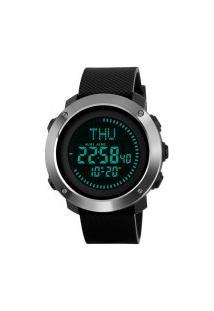 Relógio Skmei Digital -1293- Preto E Prata