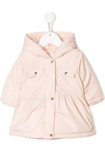 Chloé Kids Hooded Padded Coat - Rosa