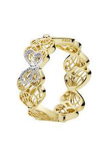Anel Shine Transformação- Prata & Dourado- Tamanho 5Pandora