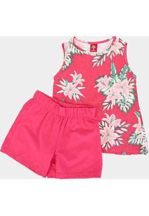 Conjunto Infantil Bee Loop Estampado Feminino - Feminino-Pink
