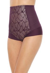 Calcinha Triumph Hot Pant Modeladora Roxa/Bege