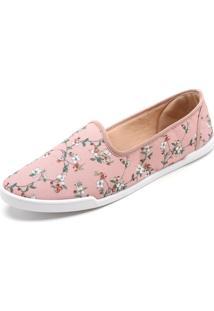 Slipper Moleca Floral Rosa
