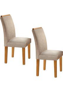 Conjunto Com 2 Cadeiras Sevilha Ypê E Jacquard
