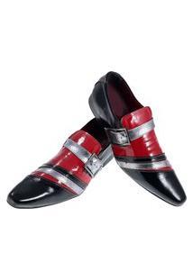 Sapato Masculino Italiano Social Executivo Em Couro Art Sapatos Vermelho Stendhal