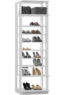 Estante Sapateira C/ Prateleiras Reguláveis Clothes – Be Mobiliário - Branco